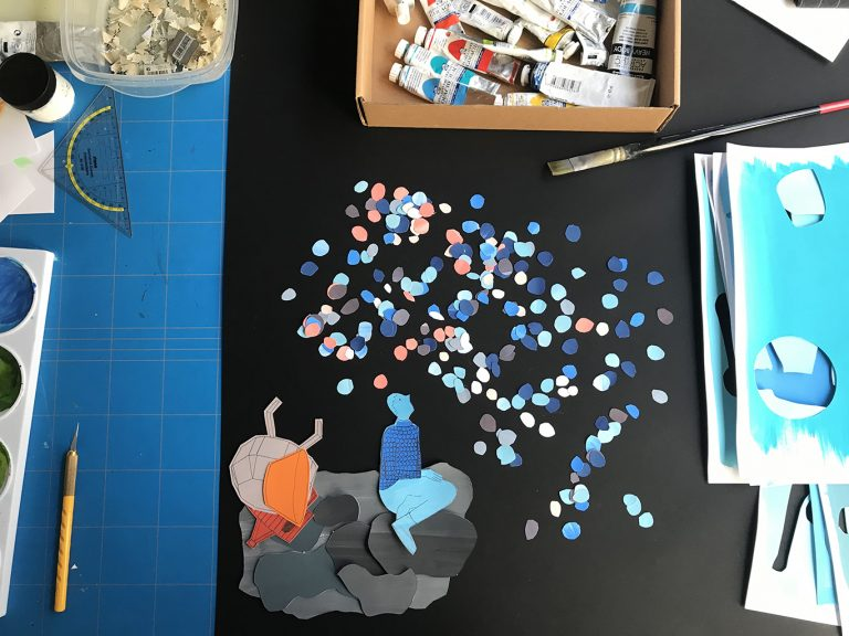 Beyond the Sky – graphic novel – photo working table 3
