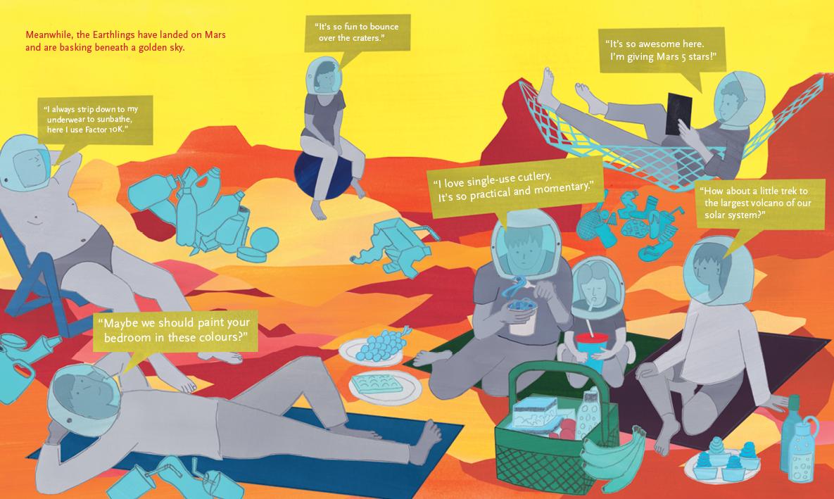 Beyond the Sky – graphic novel by Jan Ciecierski and Joachim Ciecierski – space junk – space debris – book spreads12