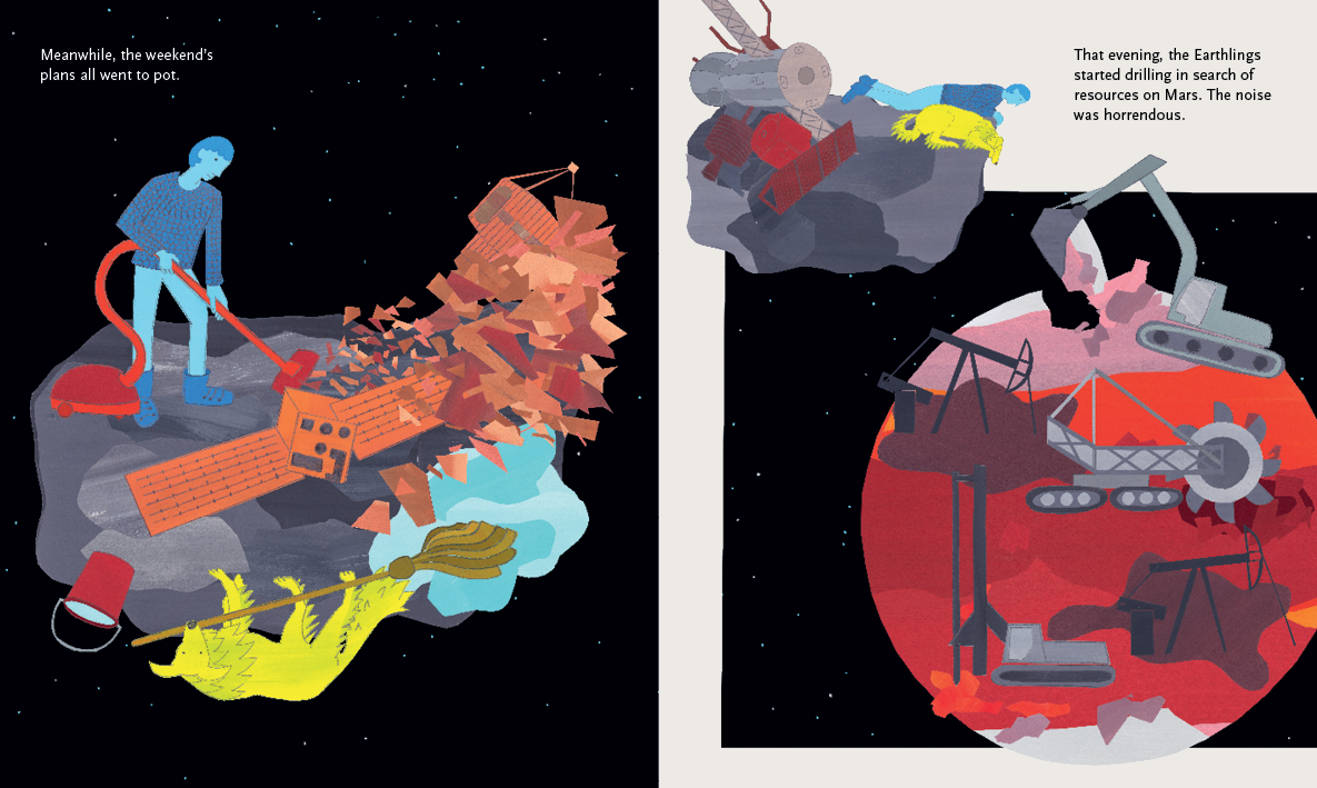 Beyond the Sky – graphic novel by Jan Ciecierski and Joachim Ciecierski – space junk – space debris – book spreads15