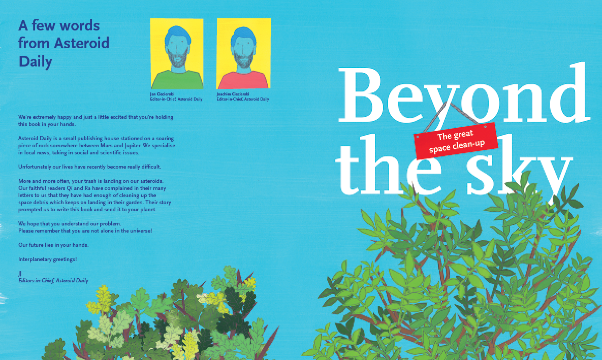 Beyond the Sky – graphic novel by Jan Ciecierski and Joachim Ciecierski – space junk – space debris – book spreads3