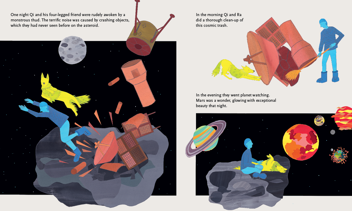 Beyond the Sky – graphic novel by Jan Ciecierski and Joachim Ciecierski – space junk – space debris – book spreads5