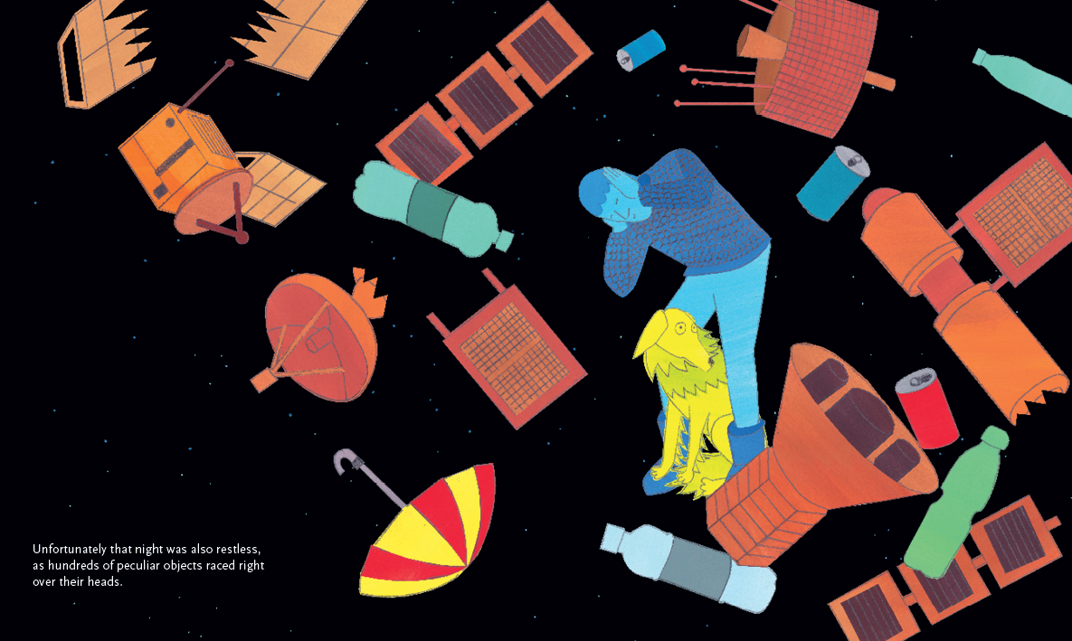 Beyond the Sky – graphic novel by Jan Ciecierski and Joachim Ciecierski – space junk – space debris – book spreads6