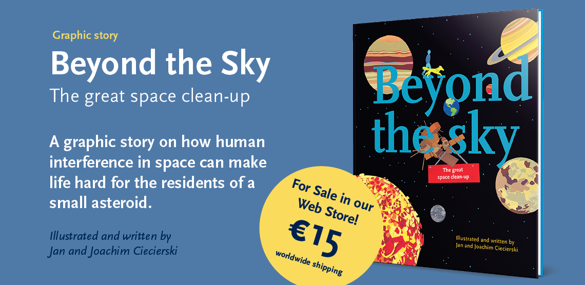 Beyond the Sky – The great space clean-up graphic novel banner2